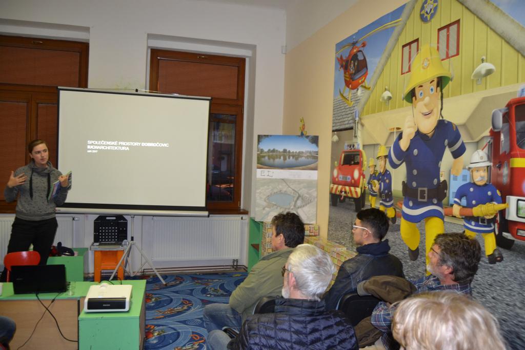 Prezentace vítězného architektonického návrhu vzhledu obce Dobročovice